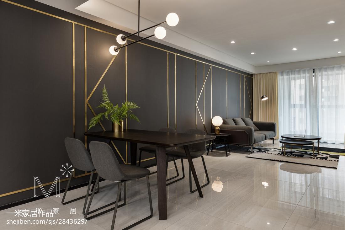 精选92平方三居餐厅现代装饰图片