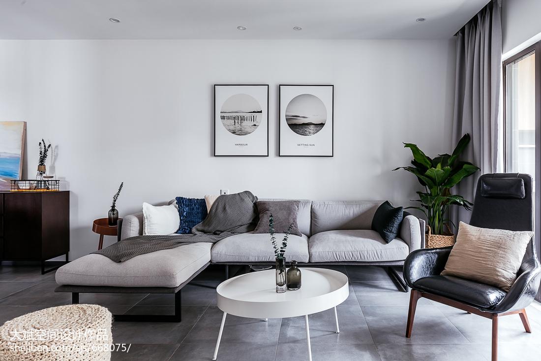 89平米二居客厅现代装修效果图片大全