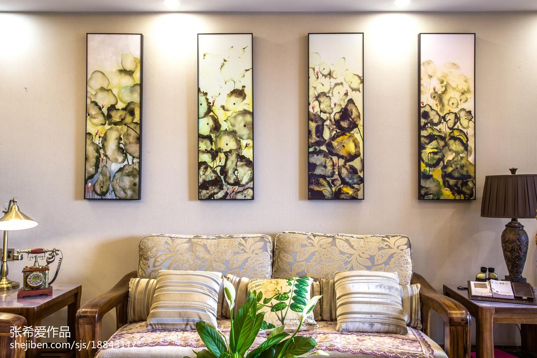 2018精选面积138平中式四居客厅装修图片欣赏