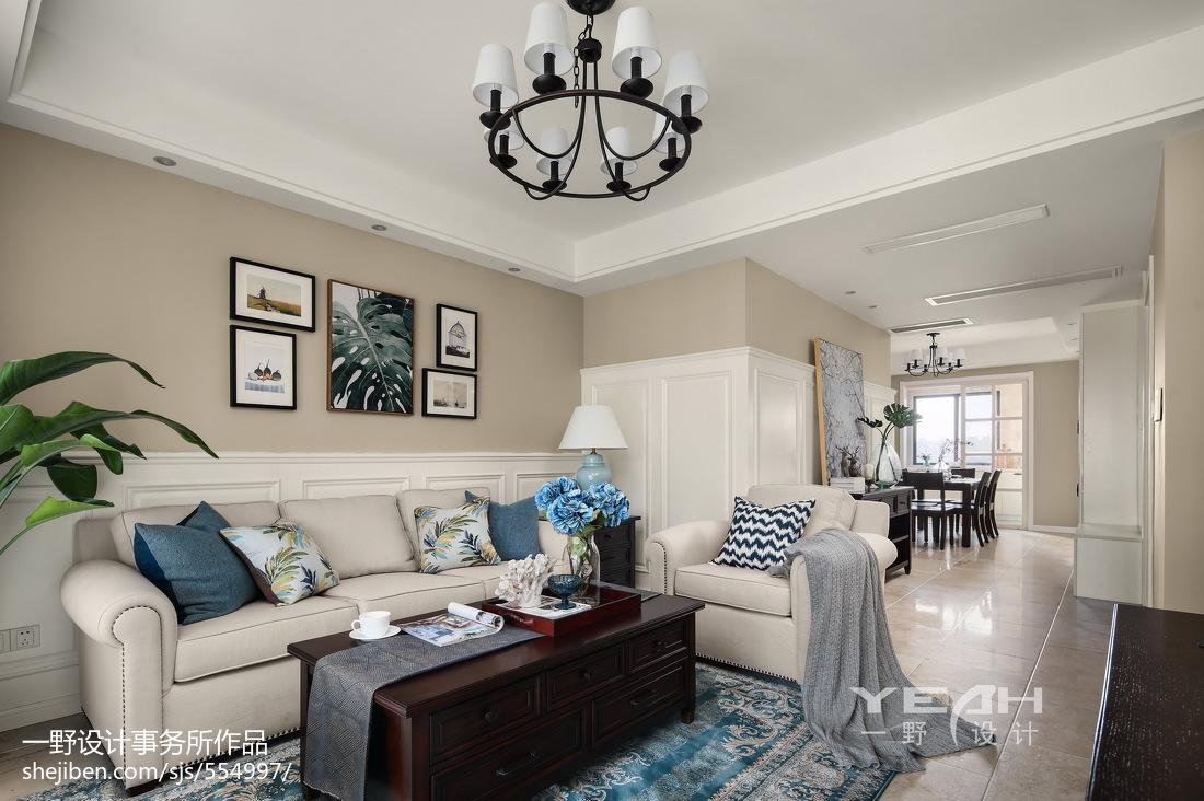 美式小三居客厅吊灯设计图
