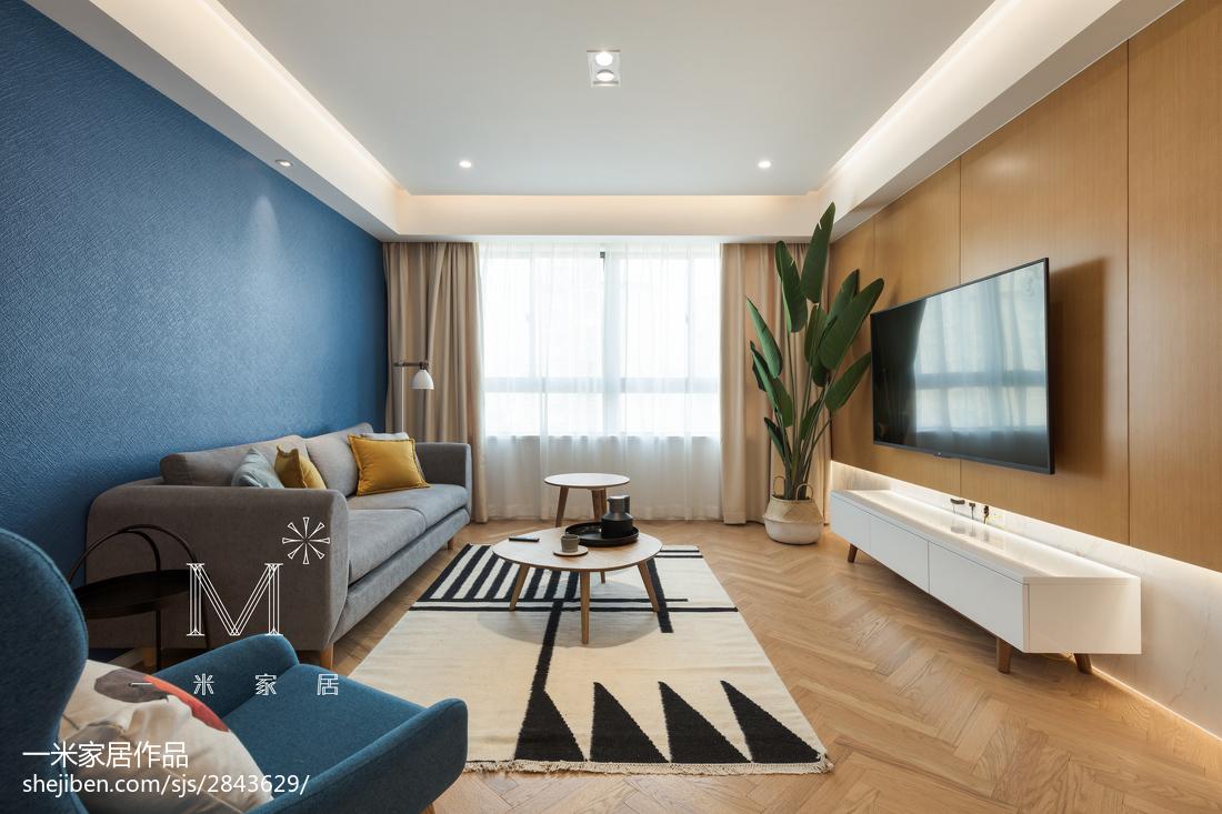 热门大小98平北欧三居客厅欣赏图片大全