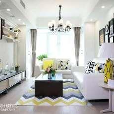 现代简约风格别墅客厅水晶灯图片
