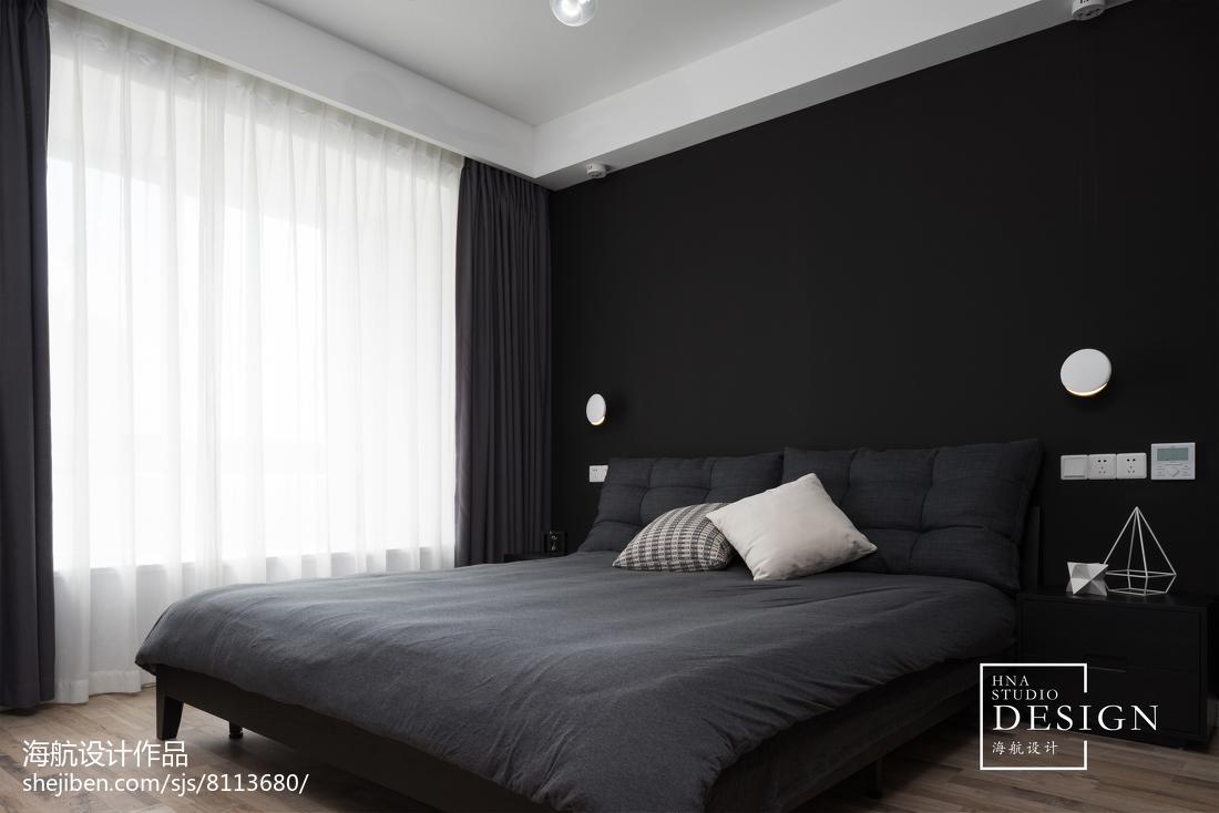 面积125平现代四居卧室装修设计效果图片大全
