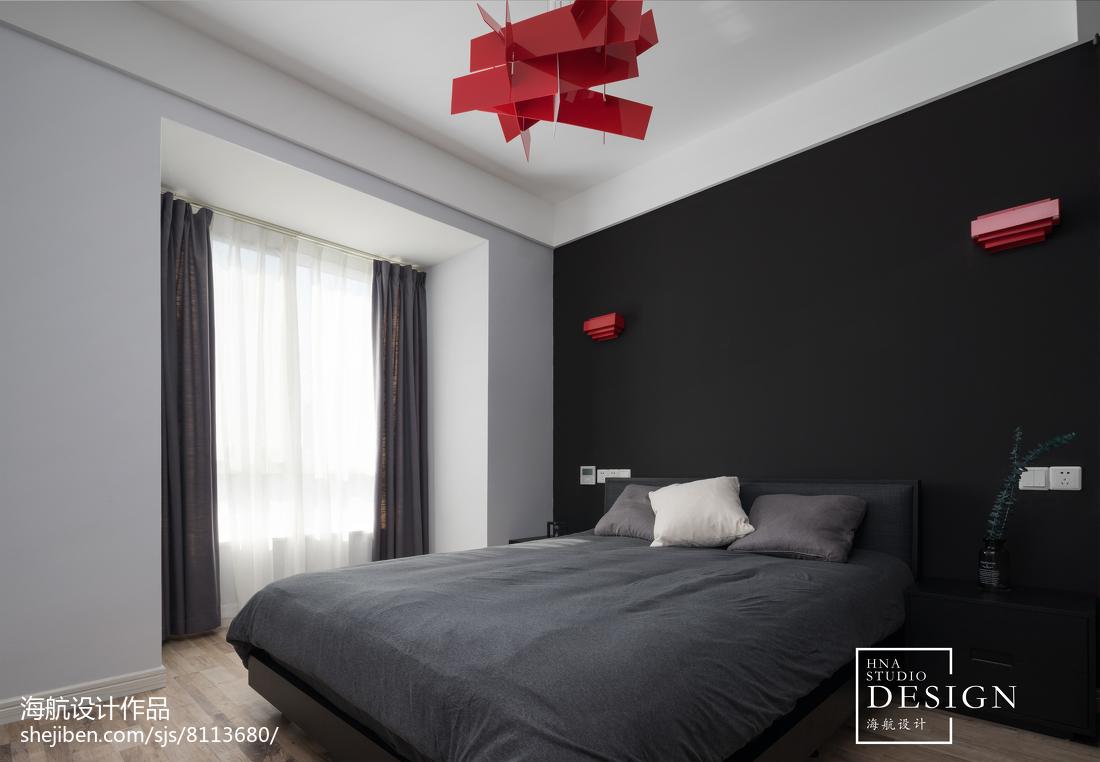 2018141平米四居卧室现代装修效果图片