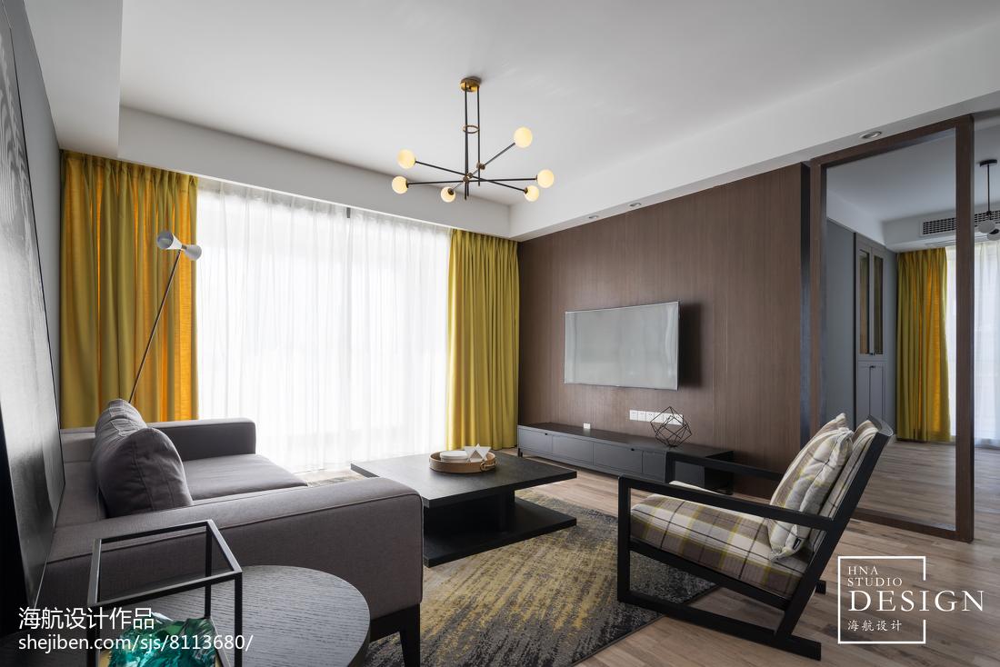 2018面积135平现代四居客厅装修效果图片欣赏