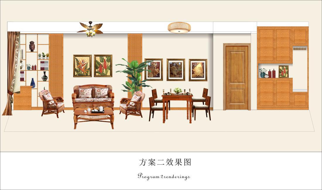 美式简约室内过道设计装饰效果图片