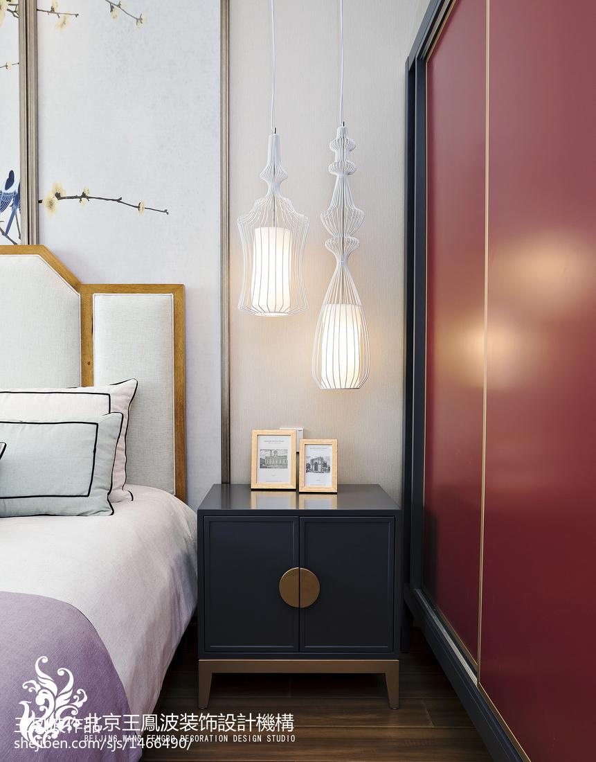 2018面积143平别墅卧室中式装修实景图片欣赏