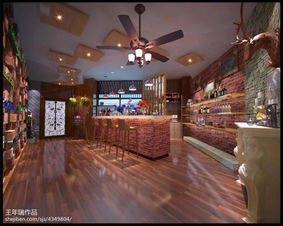 美式乡村风格别墅家居餐厅设计效果图