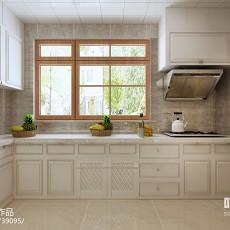 美式家居厨房整体橱柜装修效果图