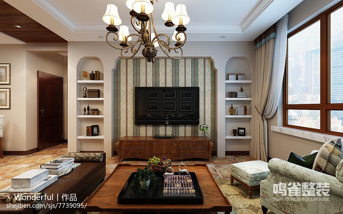 新中式风格家庭相片效果图片
