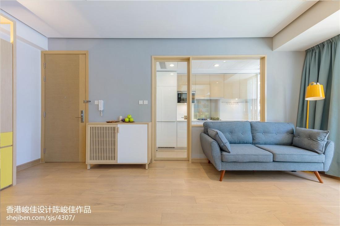 二居客厅北欧装修欣赏图片