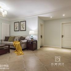 精选大小96平美式三居客厅装饰图片