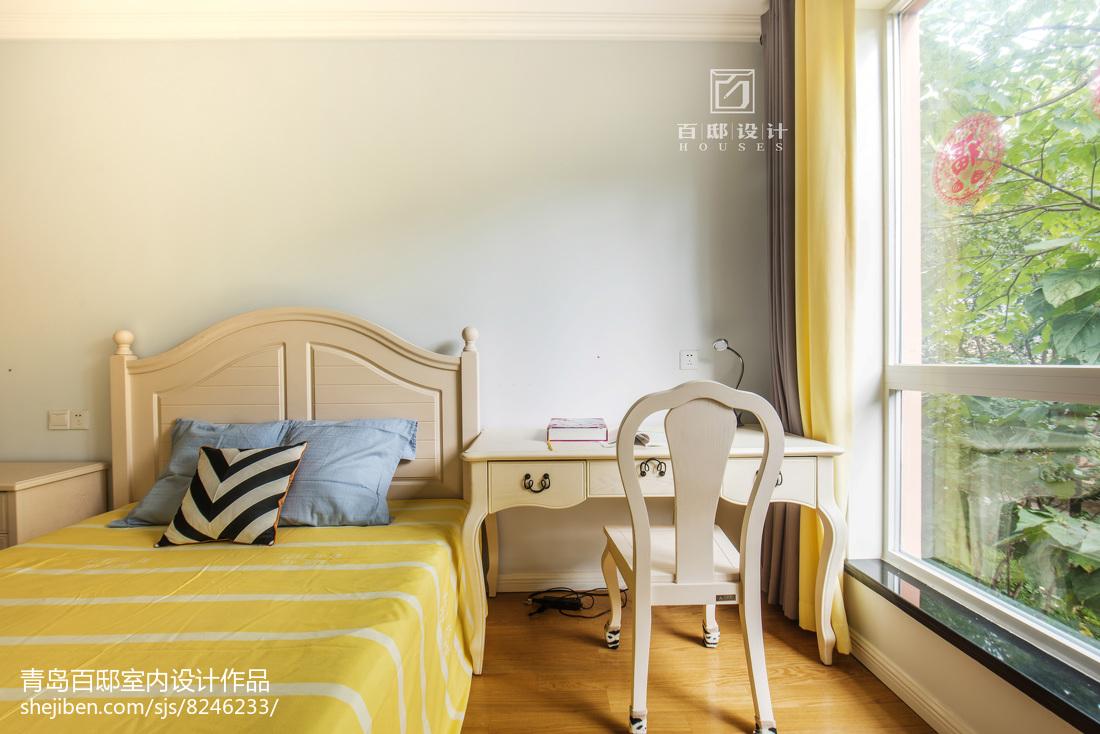 精美面积91平美式三居卧室效果图片