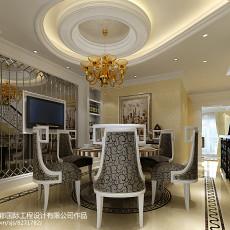 热门新古典别墅餐厅装修效果图片