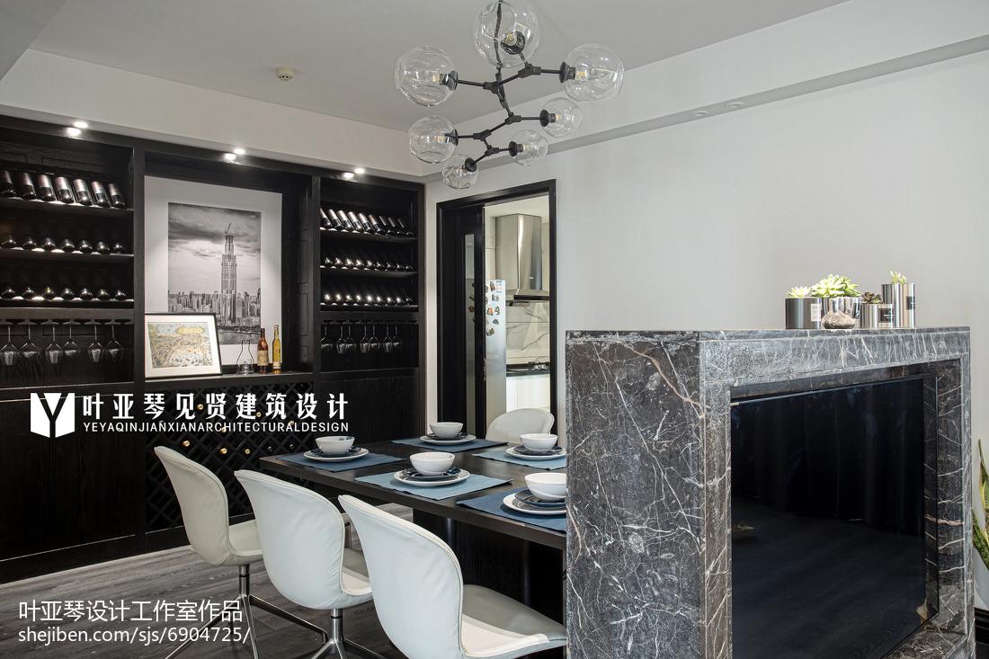 精选109平米三居餐厅现代装修实景图片欣赏