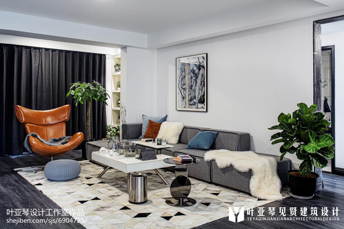 201897平方三居客厅现代装修效果图片