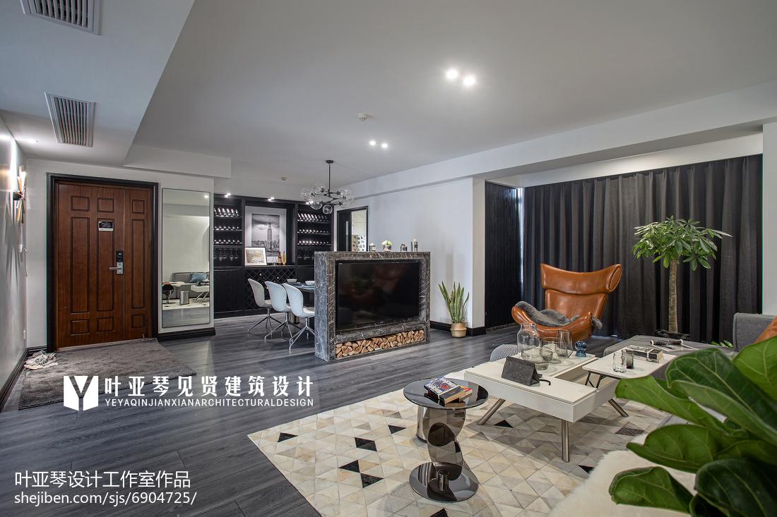 精选100平大小客厅三居现代实景图片欣赏