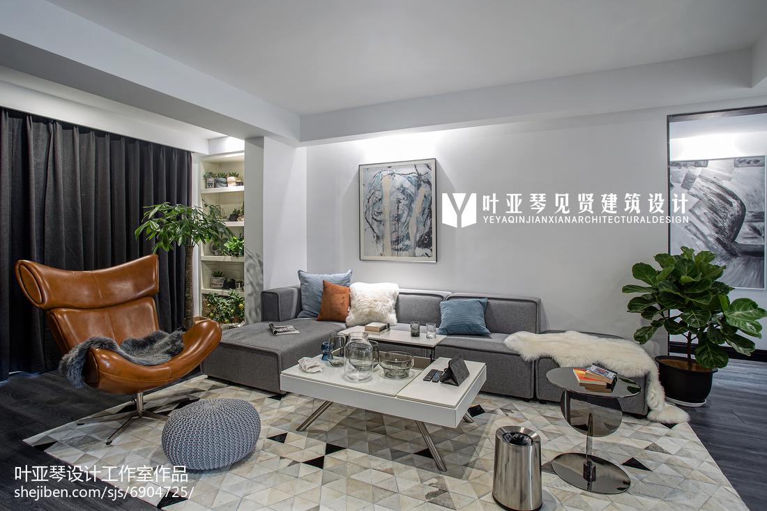 精美107平客厅三居现代装修欣赏图片