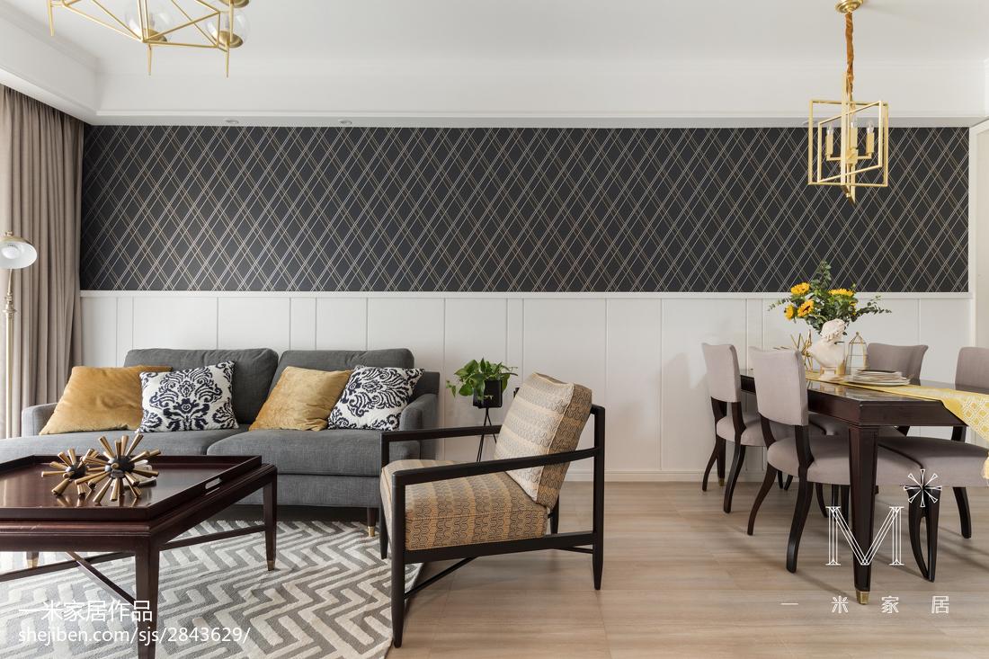 2018大小92平美式三居客厅装修欣赏图片大全