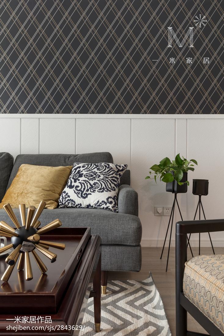 精选94平米三居客厅美式装修效果图