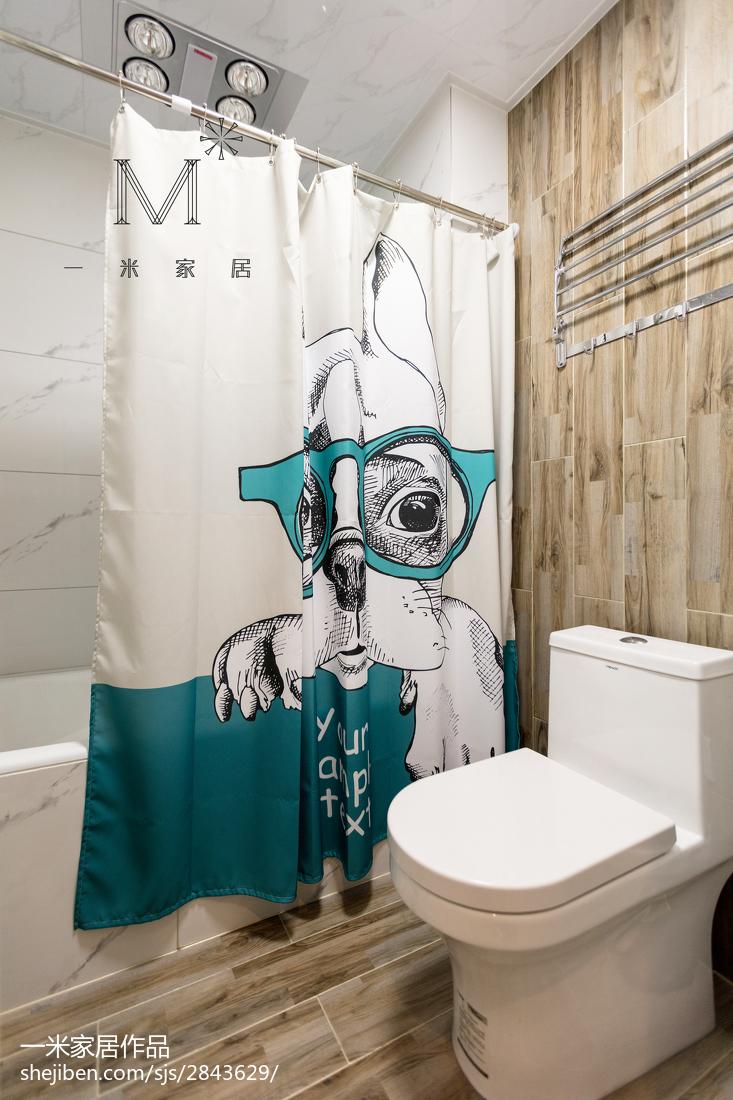 热门面积100平美式三居卫生间装饰图片