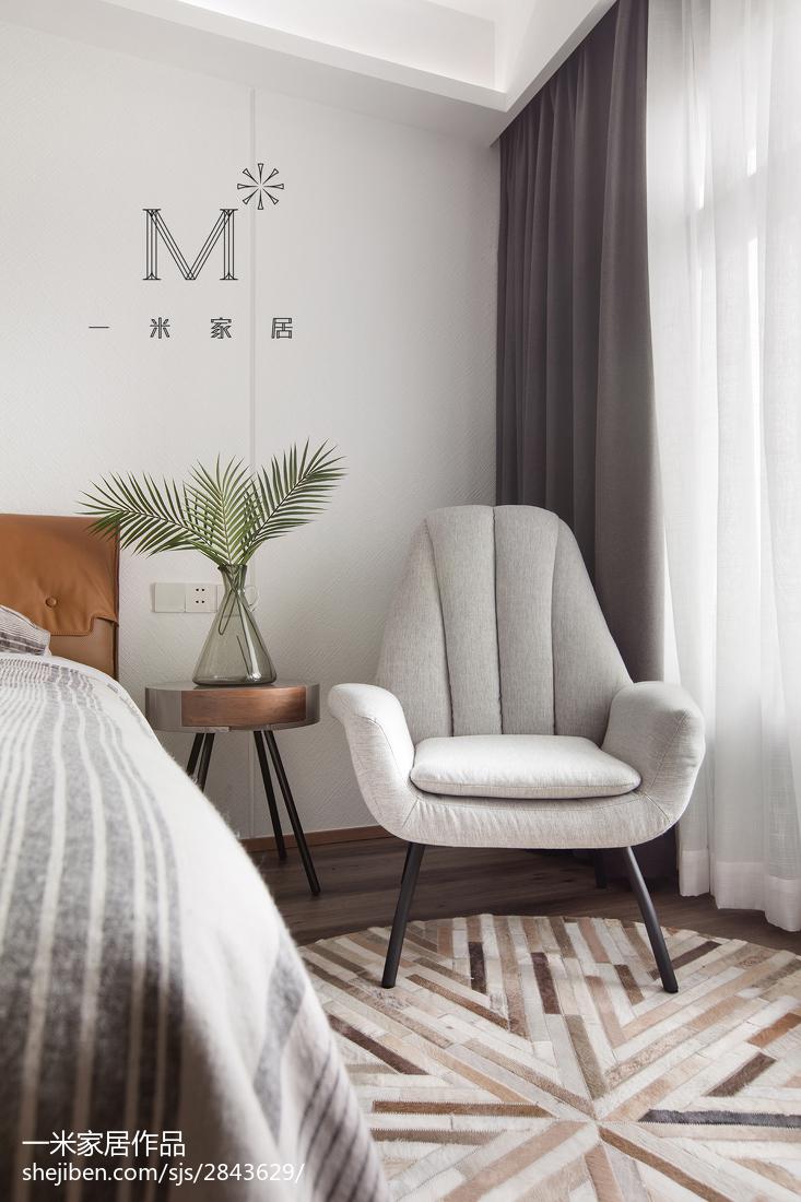 面积137平复式卧室北欧装修效果图片