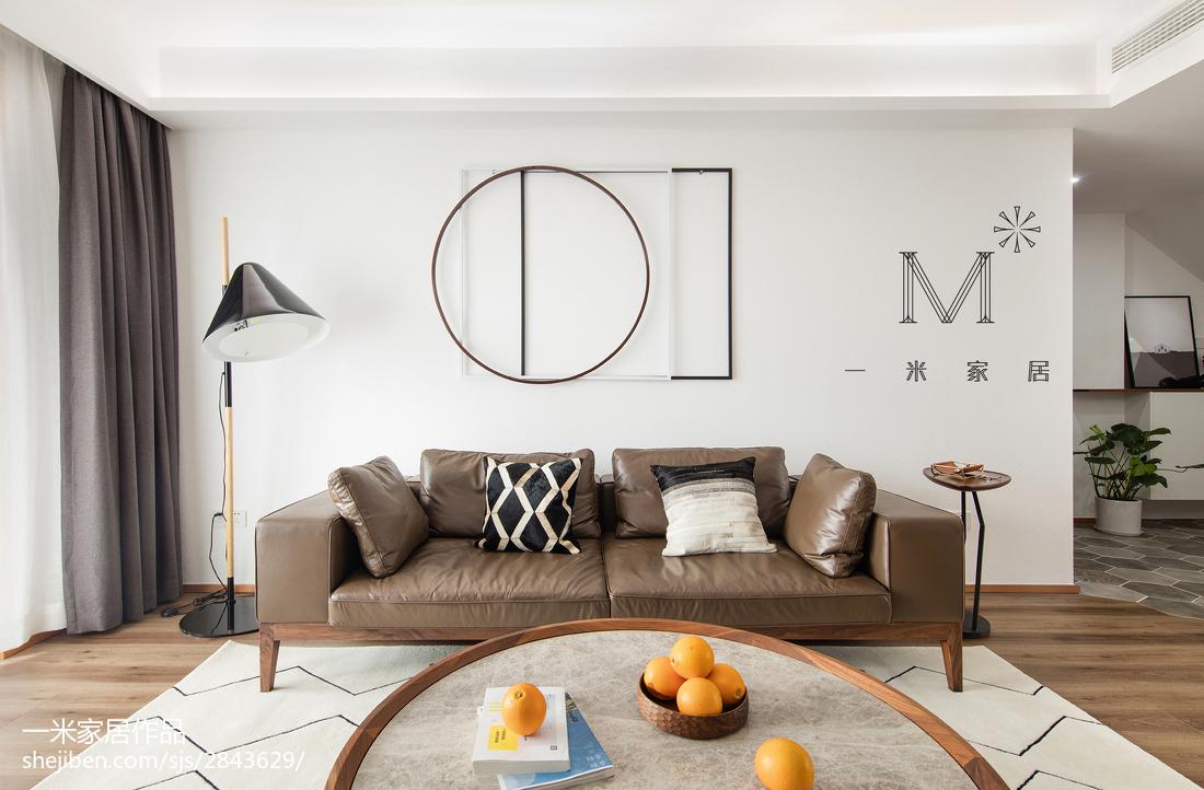 2018面积134平复式客厅北欧装修效果图片大全