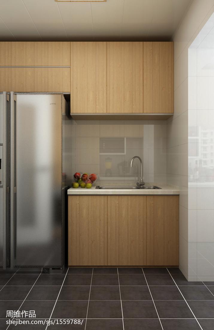 輕奢79平宜家二居廚房設計美圖