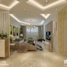 现代新古典风格客厅装修效果图