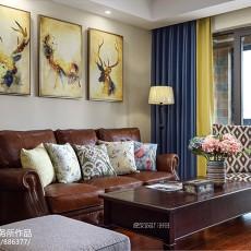 质朴123平美式四居客厅装饰美图