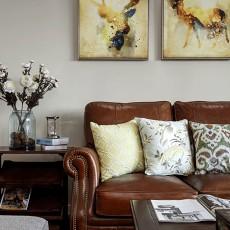 浪漫124平美式四居客厅效果图片大全