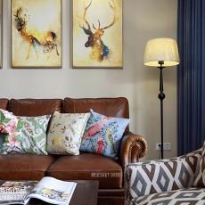 精致140平美式四居客厅实拍图