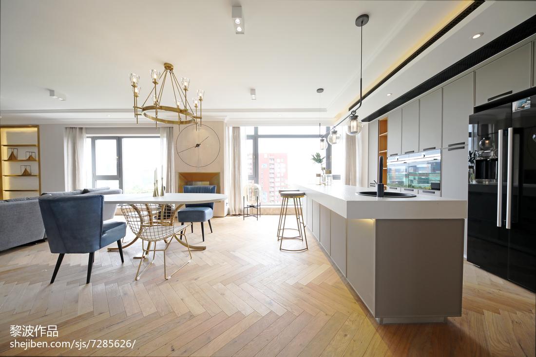 宽敞北欧三居吧台设计图片
