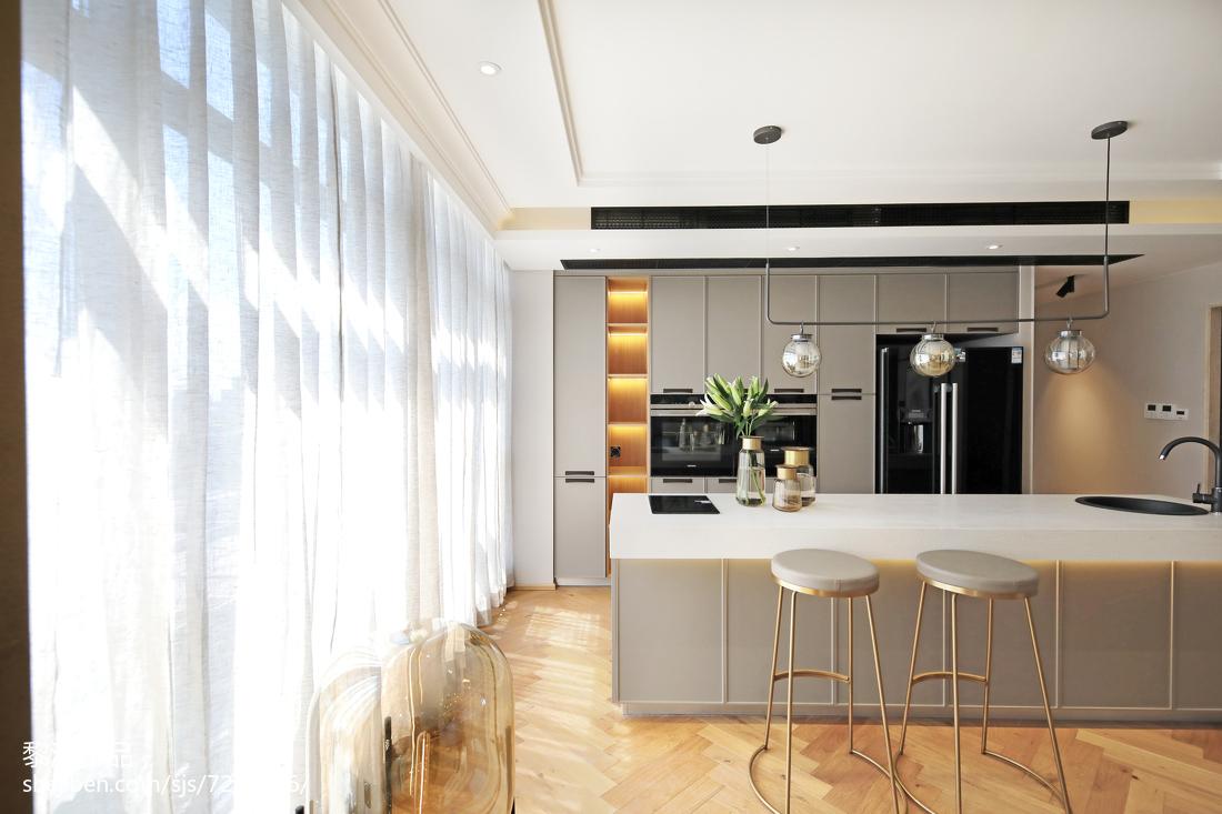 宽敞北欧三居吧台设计效果图片
