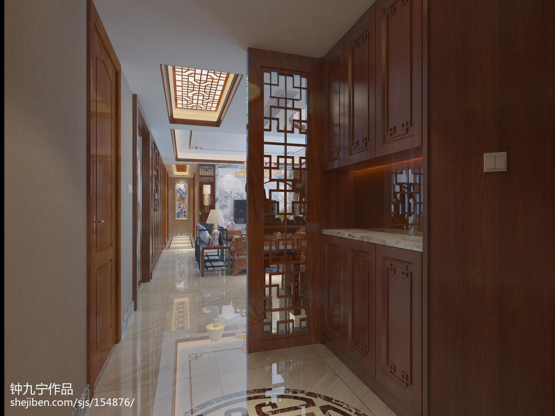 精美面积139平中式四居客厅效果图片欣赏