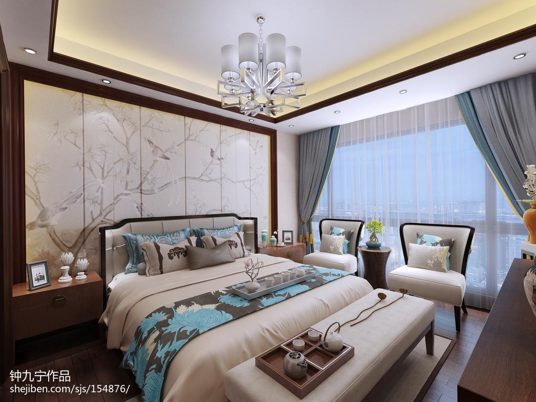 精选141平方四居卧室中式装修欣赏图