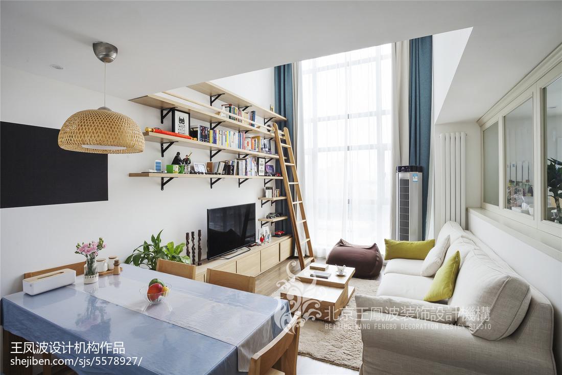 2018面积88平日式二居客厅装修效果图片大全