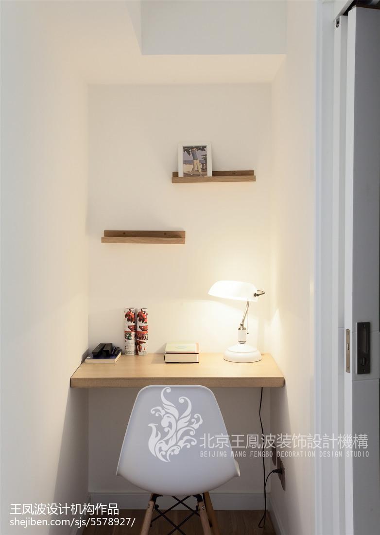 热门80平米二居书房日式装修欣赏图片