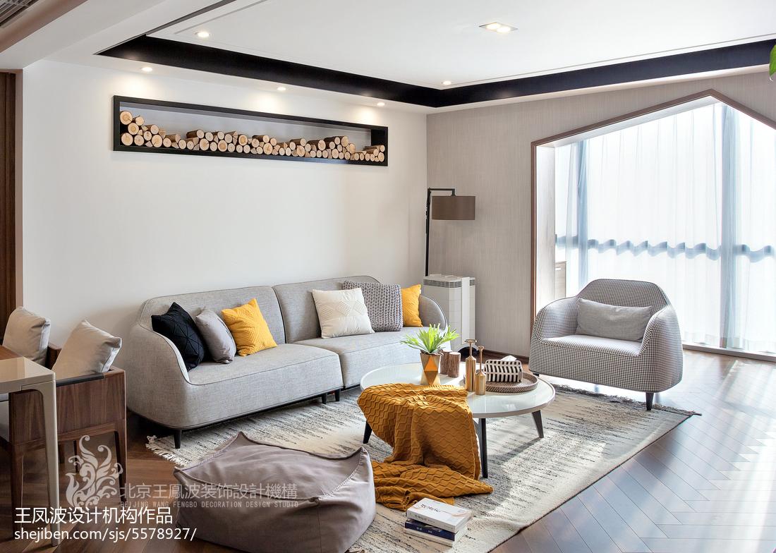 精美104平客厅三居现代装饰图片欣赏