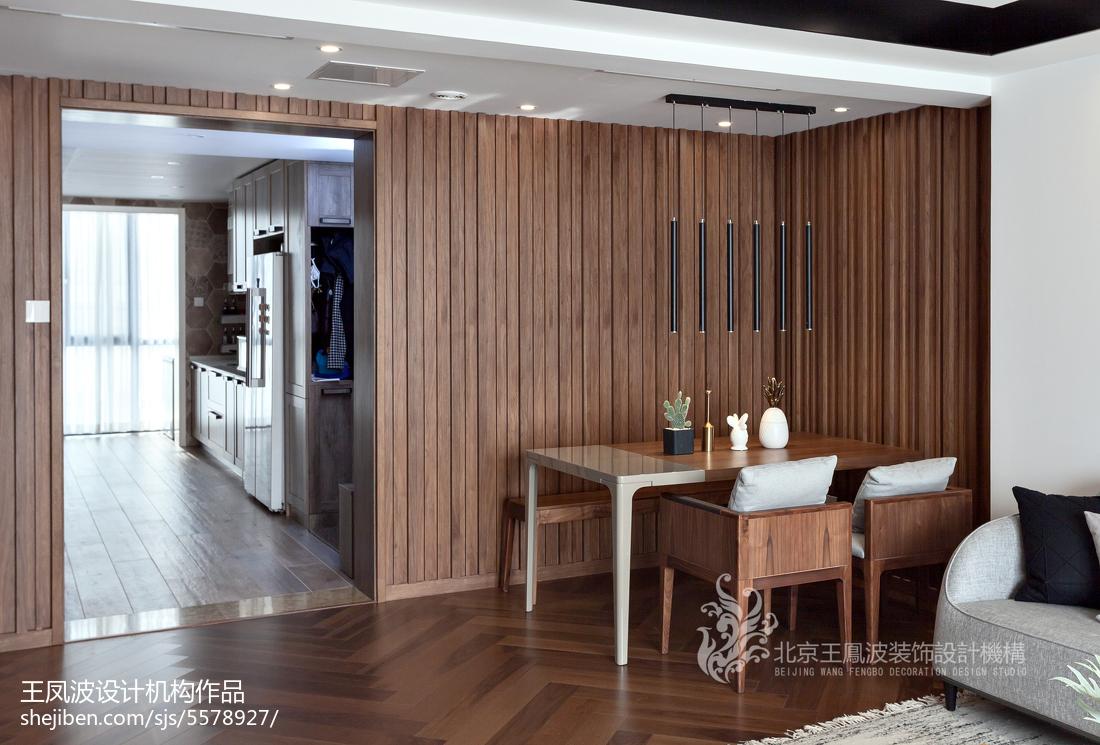 热门面积106平现代三居餐厅实景图