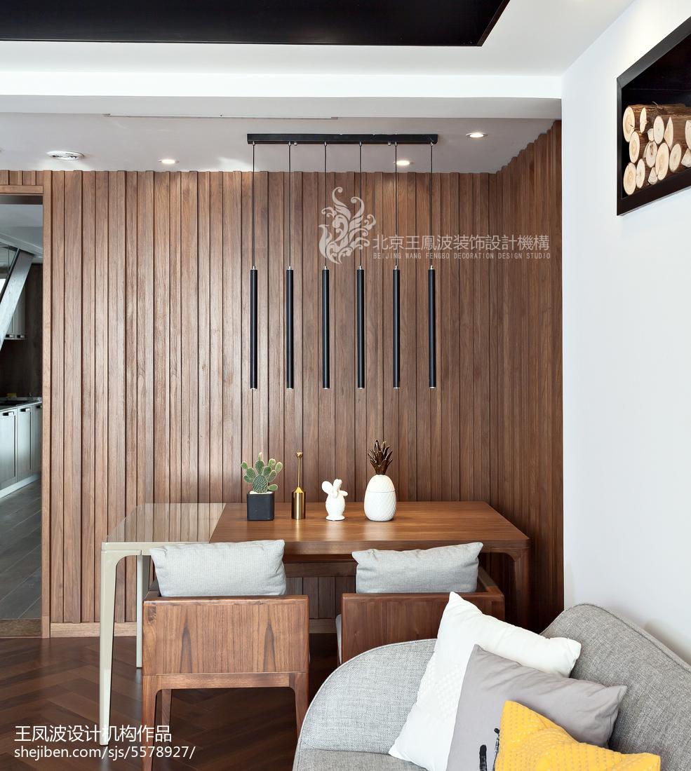 面积104平现代三居餐厅实景图片
