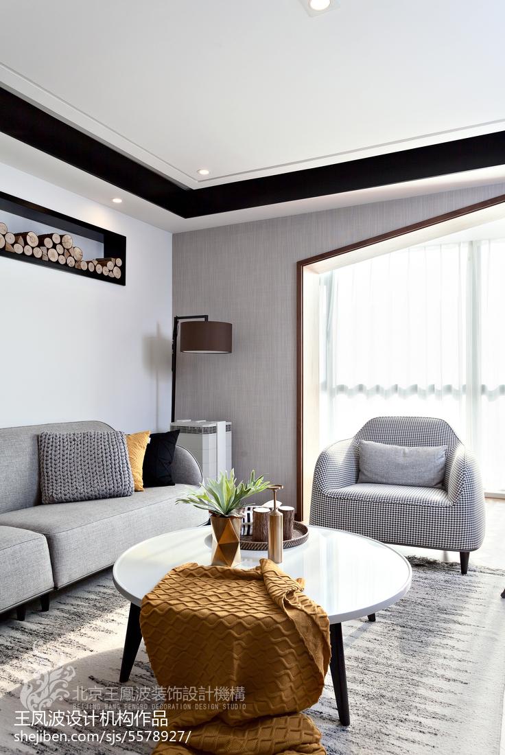 热门面积108平现代三居客厅装修图