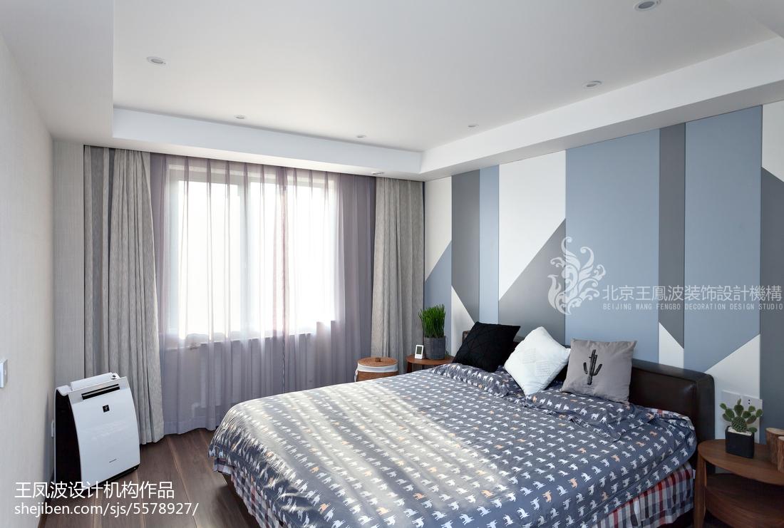 优雅现代三居卧室设计图