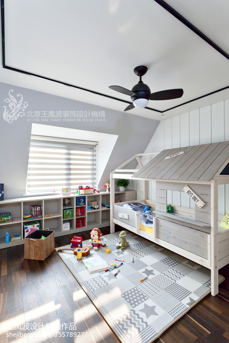 精选90平米三居儿童房现代装修设计效果图