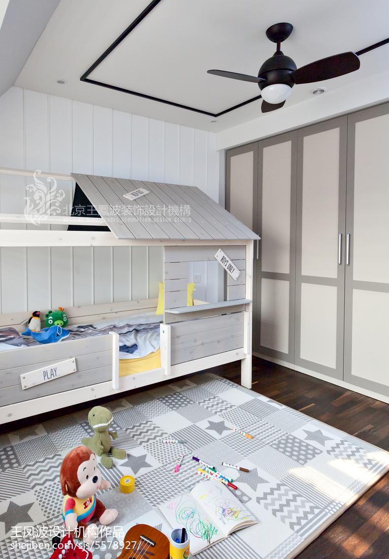 典雅127平现代三居儿童房实景图