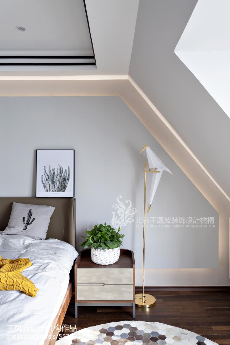 精美105平方三居卧室现代装修设计效果图