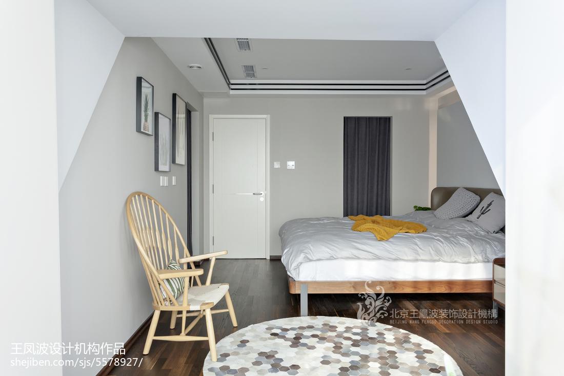 精美91平方三居卧室现代装修实景图