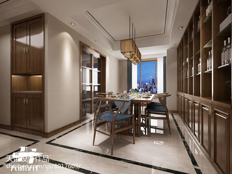 精选面积104平中式三居餐厅实景图片大全