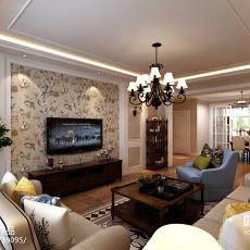 现代简约风格客厅吊顶设计效果图