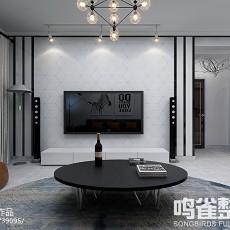 极简主义卧室背景墙装修效果图